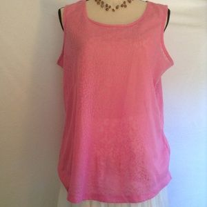 Anthology see-through pink tank top Size 10